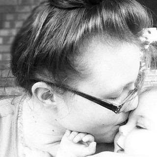Self care number four: kisses with baby, who loves with reckless abandon.