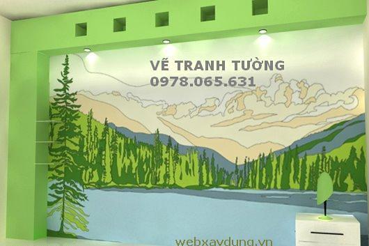 Vẽ tranh tường đẹp, mẫu tranh tường trẻ em