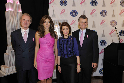 Fabrizio Freda_Elizabeth Hurley_Evelyn H. Lauder and William P. Lauder