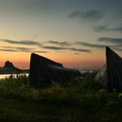 Lindisfarne before sunrise