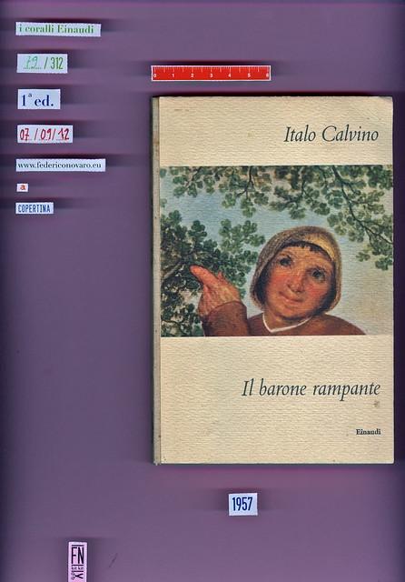 Italo Calvino, Il barone rampante. Einaudi 1957. i coralli 79. Copertina