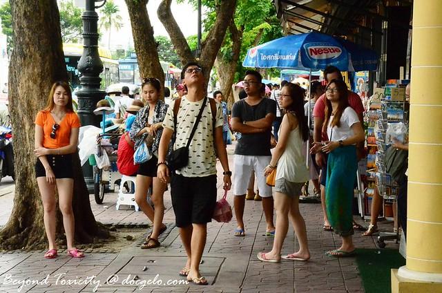 tourists, bangkok thailand