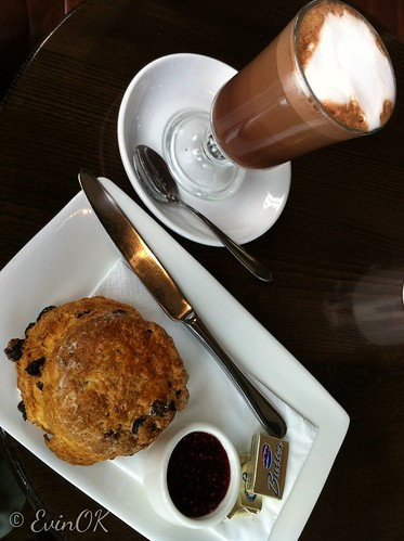 Morning Mocha and Scone at Electric in Cork City