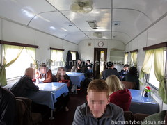 North Korean dining car