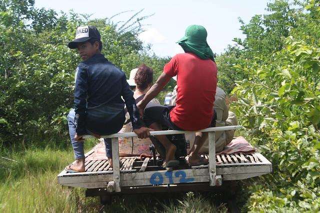Bamboo Trains Leaving Battambang