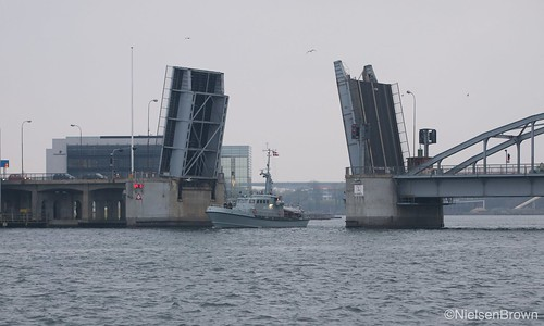 Navy passing through Sønderborg