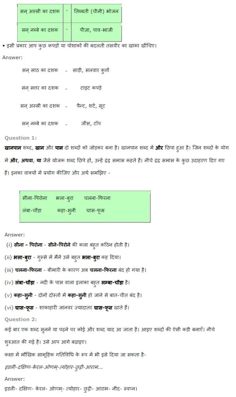 NCERT Solutions for Class 7th Hindi Chapter 14 खानपान की बदलती तस्वीर