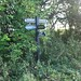 Sign from Ridgeway to Letcombe