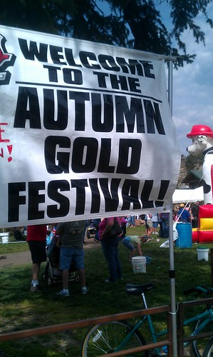 9-23-12 CO22 - Estes Park Beer, Brats & Bands - Autumn Gold Sign