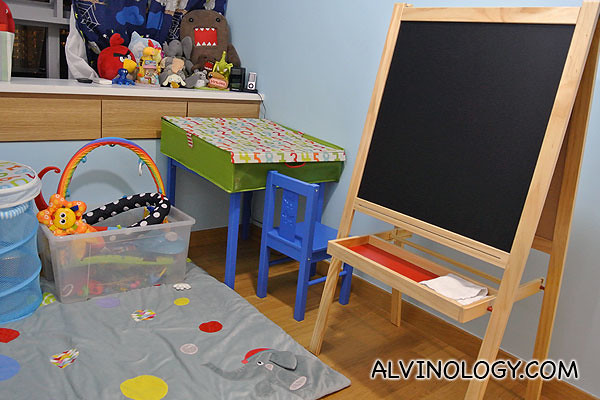 Chalkboard for Asher to draw on