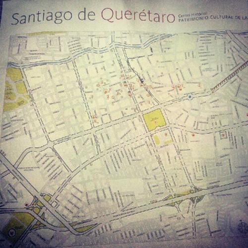 Mapa de Santiago de Querétaro.