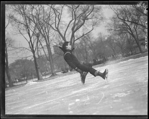 Ice skating, Public Garden