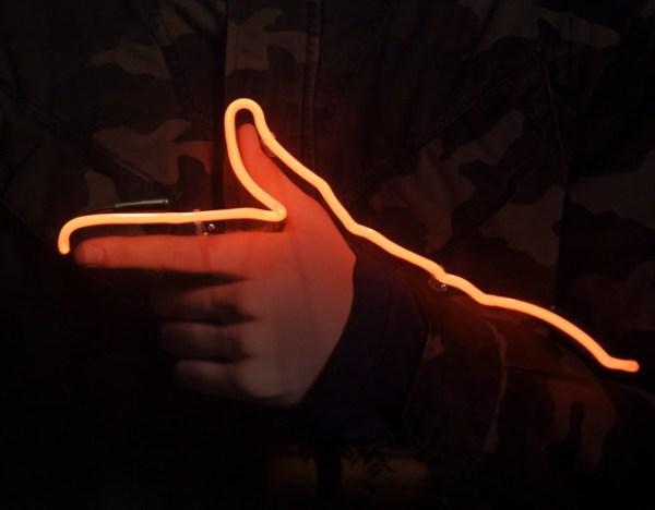 neon hand 2