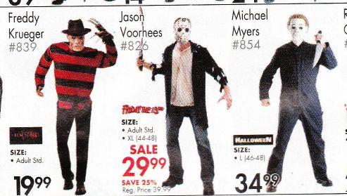 movie maniacs costumes closeup