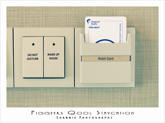 Light switch and hotel card slot at Quincy Hotel Singapore