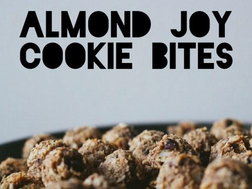 Almond joy cookie bites