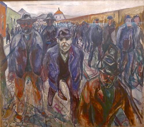"""Edvard Munch: """"Arbeidere på hjemvei"""""""