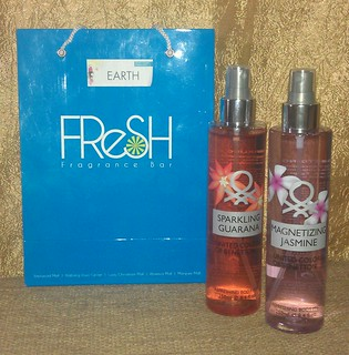 Two of my favorite Beneton Body Mists Sparkling Guarana and Magnetic Jasmine