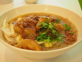 Braised brisket of beef in soup
