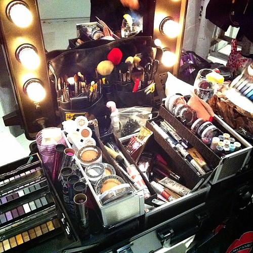 The touch up makeup station~ @hereshardcandy #hardcandys13