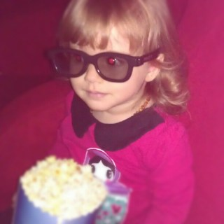 Guess what we're about to do.... Abbie's first movie :D