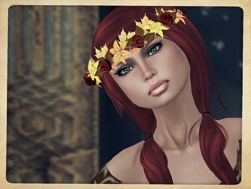 Hatpins - Branwen Wreath - Autumn Red Roses