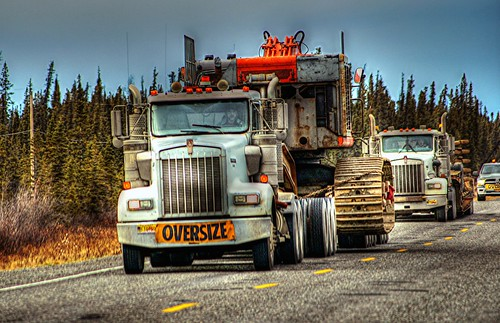 Heavy equipment heads south