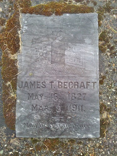James Thomas Becraft gravestone