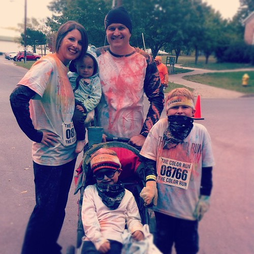 That, my friends, was super duper fun. #colorrun #lawrence