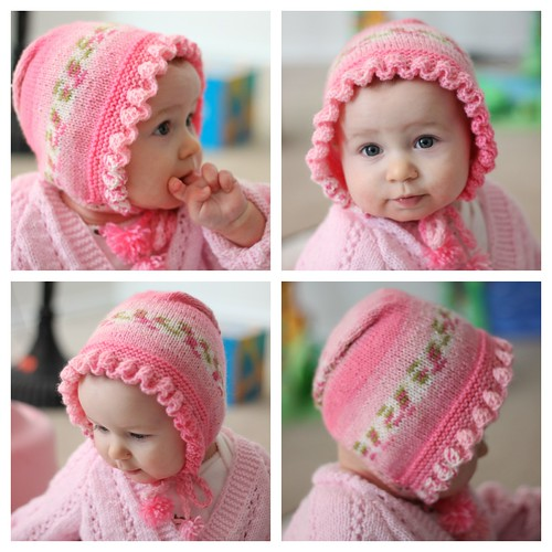 Evie and pink hat collage by wandering spirit designs