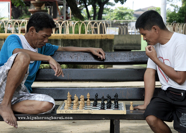 playing chess in Tanay Park