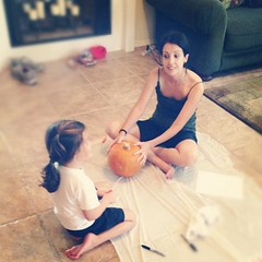 Meeting to discuss our first pumpkin carving - many discussions ensued