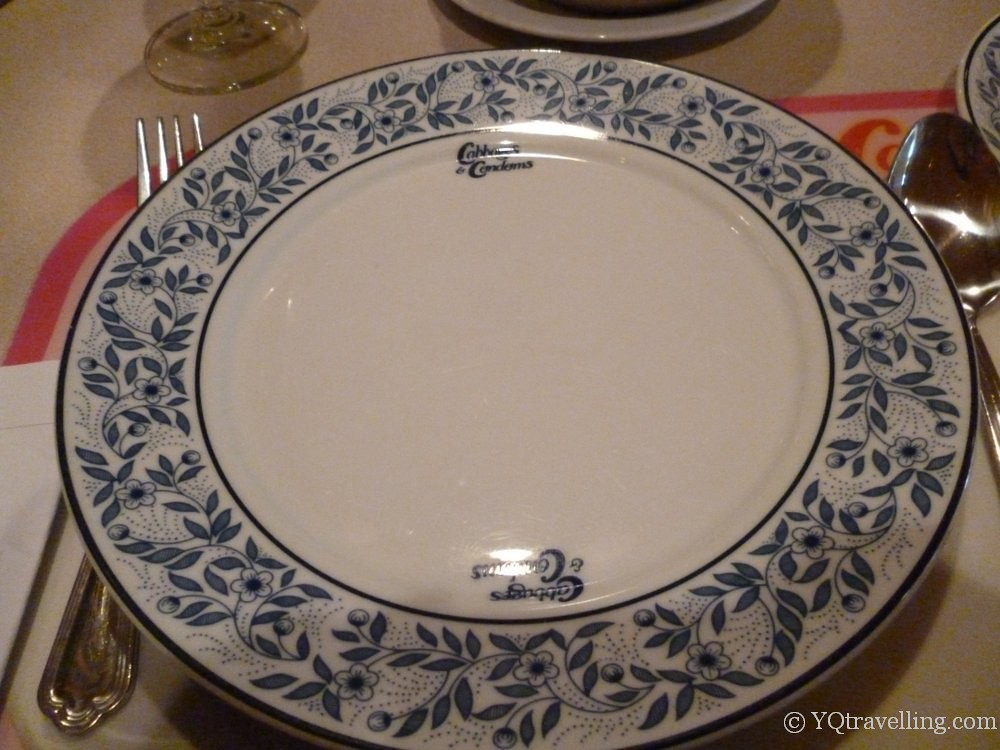 Plate with restaurant's name from Cabbages & Condoms