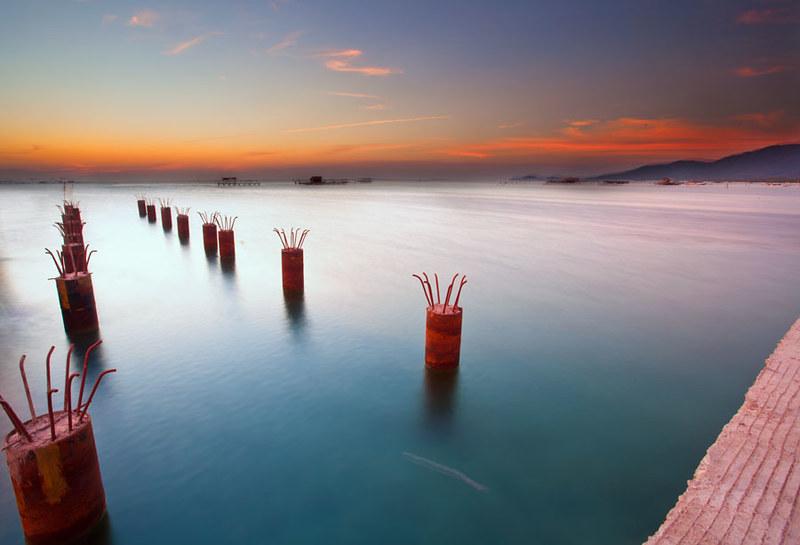 Sunset di Pelabuhan karimun