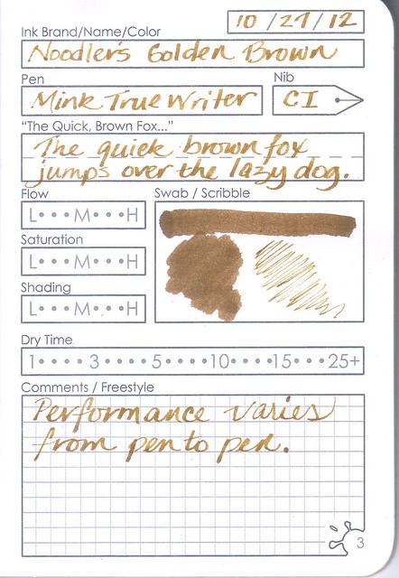 InkJournal Ink Info Page