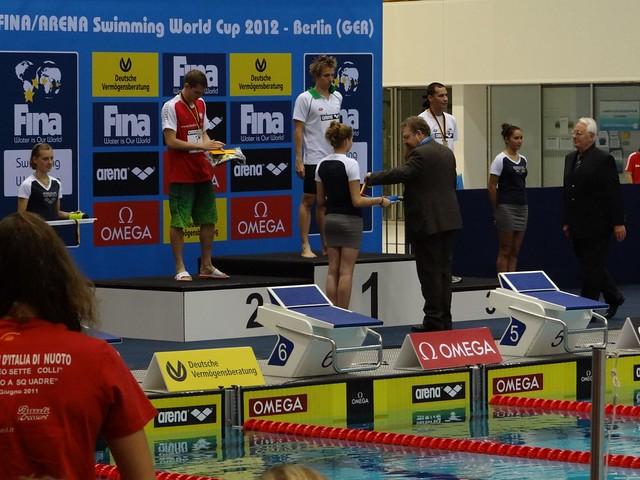 David Verraszto on top of the Berlin 2012 World Cup podium