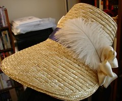 Straw Poke Bonnet Feathers