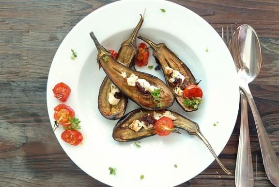 aubergines grillées au four