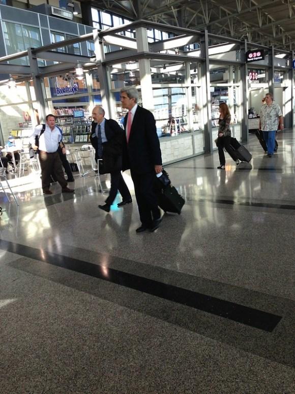 John Kerry at Austin Bergstrom Airport