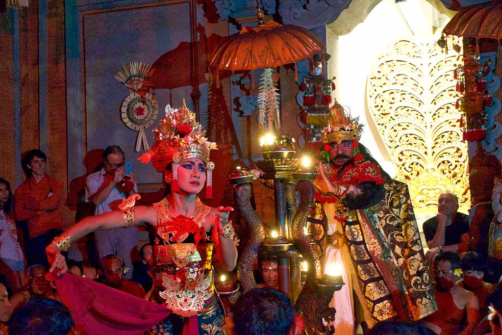 Kecak fire dance, Ubud, Bali.