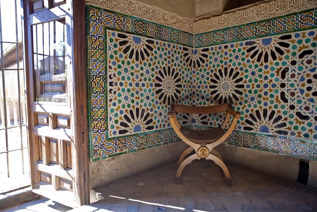 tile, Granada, Alhambra, Spain