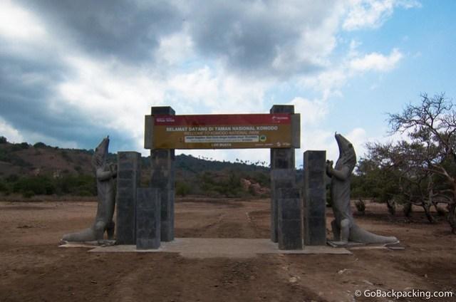 Entrance gate to Komodo National Park on Rinca Island