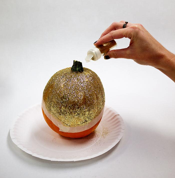 Glitter Dipped Pumpkins DIY
