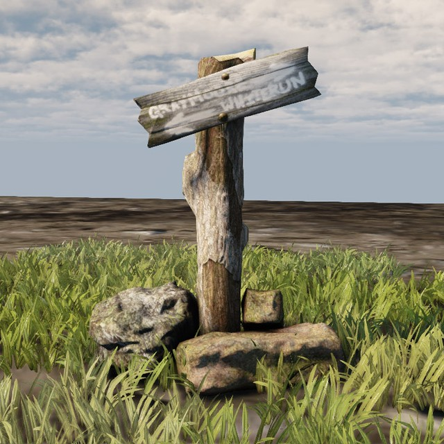 Medievil Signpost 3D Model