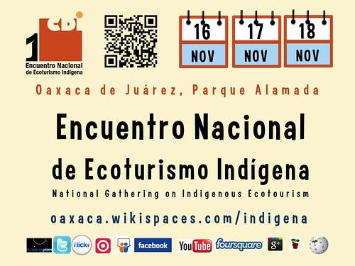 Encuentro Nacional de Ecoturismo Indígena @ecoturismoCDI