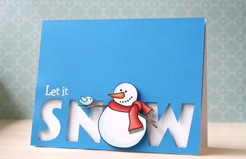 snowman & bird~Jane's Doodles by L. Bassen
