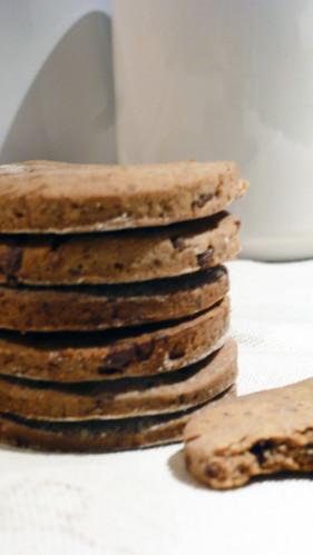Cookies with chestnut flour, chocolate and raisins - Biscotti alla farina di castagne, cioccolato e uvetta
