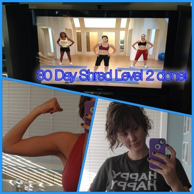 Woohoo! On to Level 3! Update on blog later! #30dayshred #mamasgettingguns