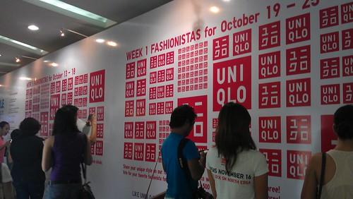 Uniqlo fashion wall