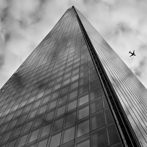Shard and a plane